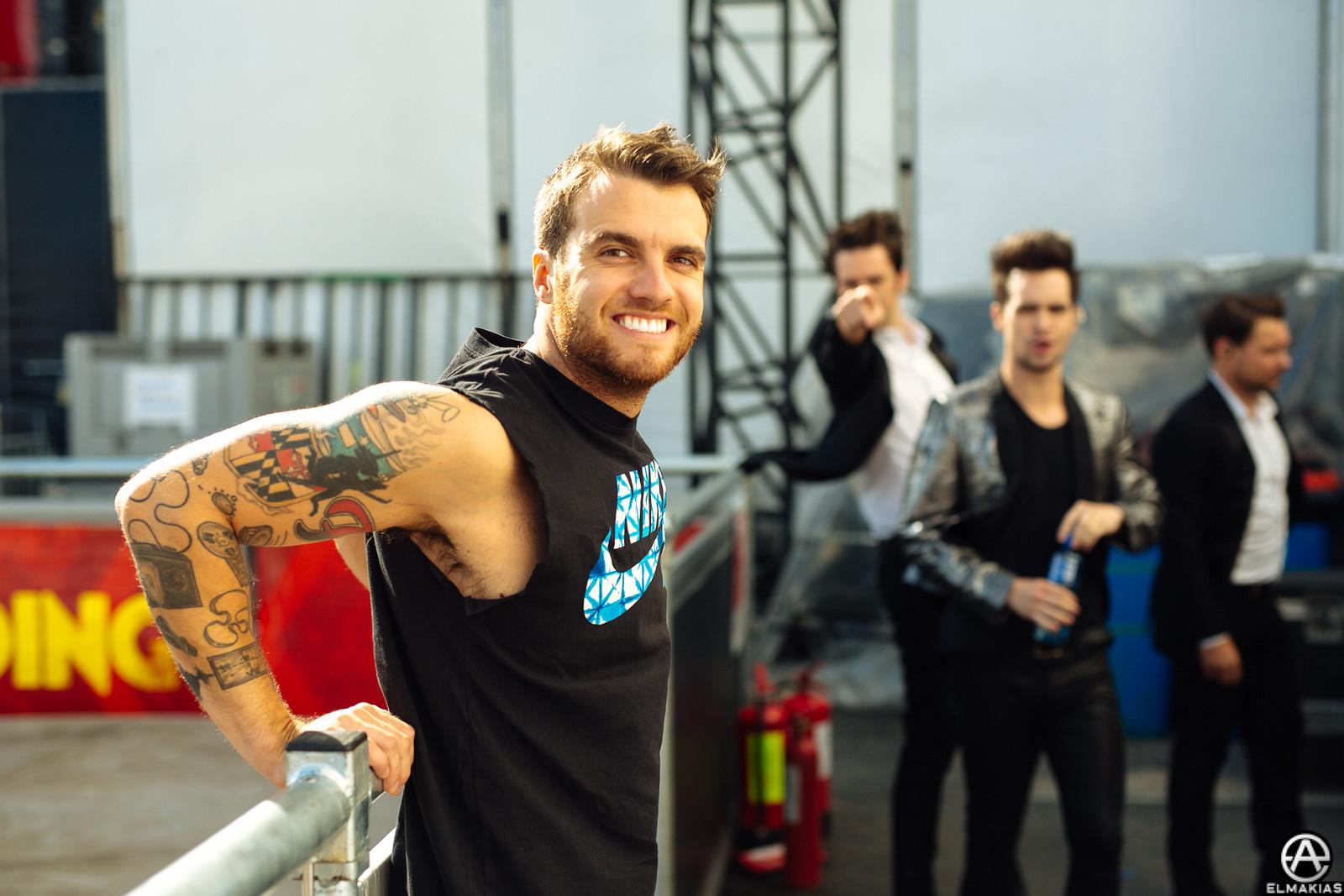 Rian Dawson of All Time Low at Reading Festival 2015 by Adam Elmakias