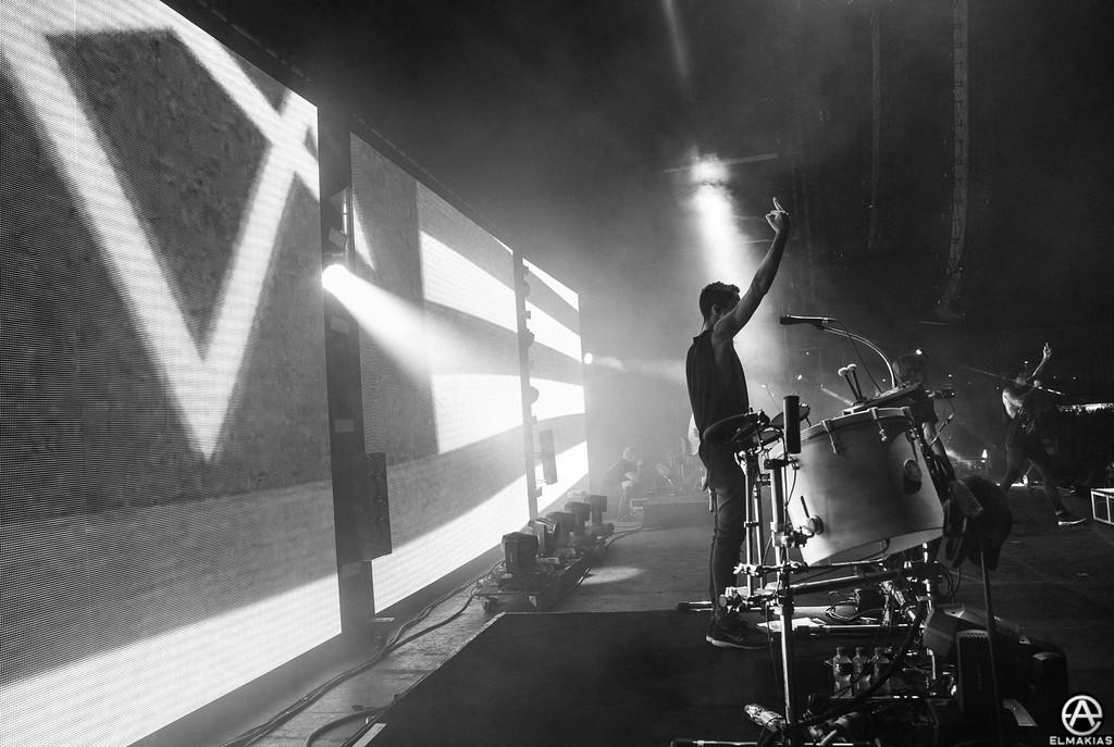 Jordan Fish of Bring Me The Horizon at Reading Festival 2015 by Adam Elmakias
