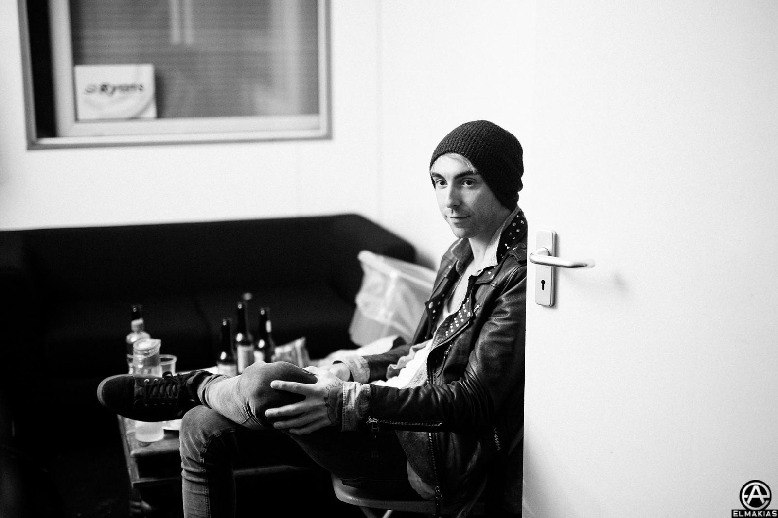 Alex Gaskarth of All Time Low at Reading Festival 2015 by Adam Elmakias