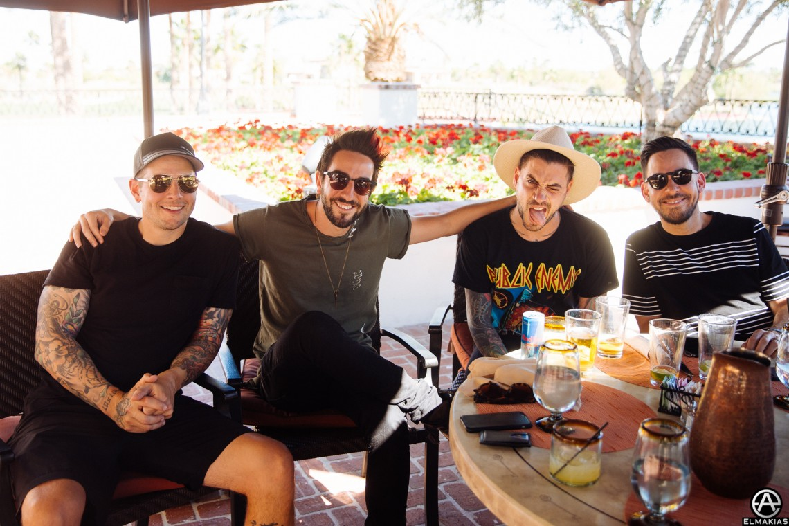 Breakfast around the Corner at M. Shadows place - with Jack, Tal, and Mike Shinoda. I had a wonderful salad.