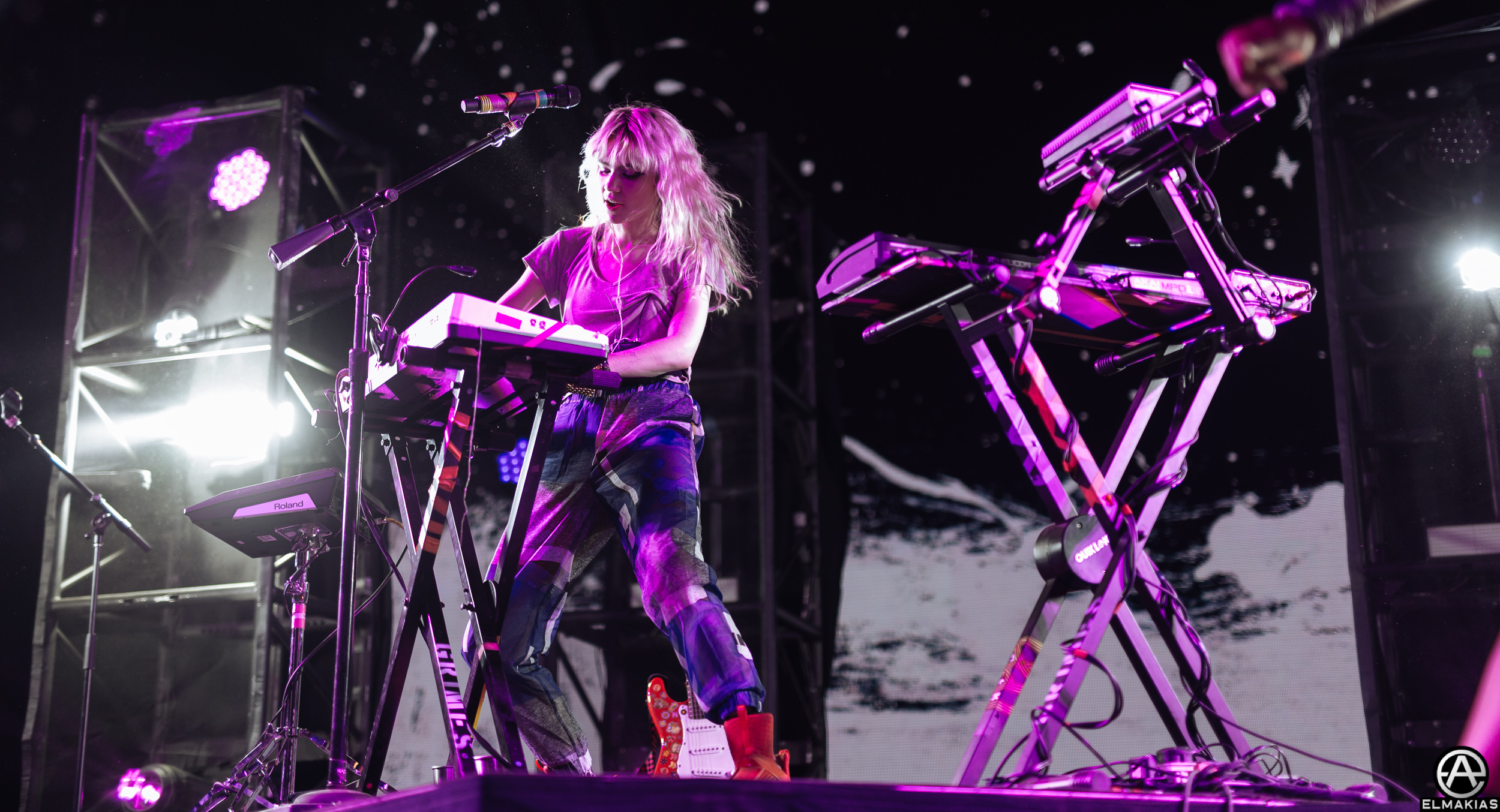 Grimes at Coachella 2016 by Adam Elmakias