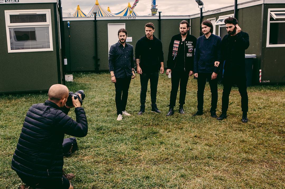 Photographing You Me At Six - photo by Jon Stone