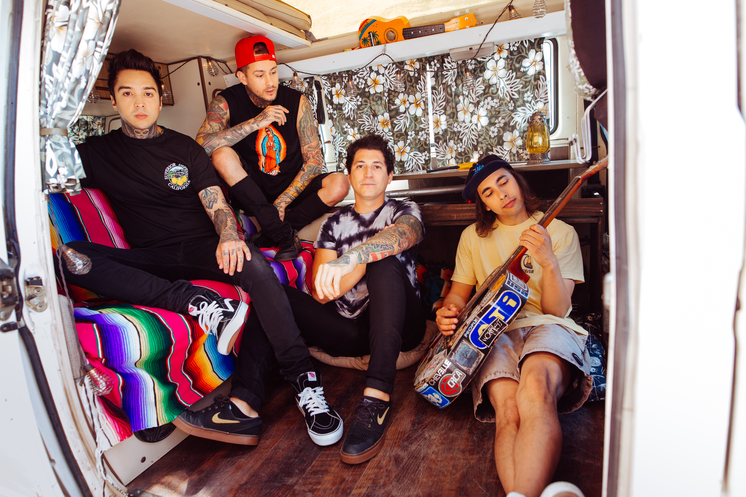 Pierce The Veil photographed for Rock Sound Magazine by Adam Elmakias