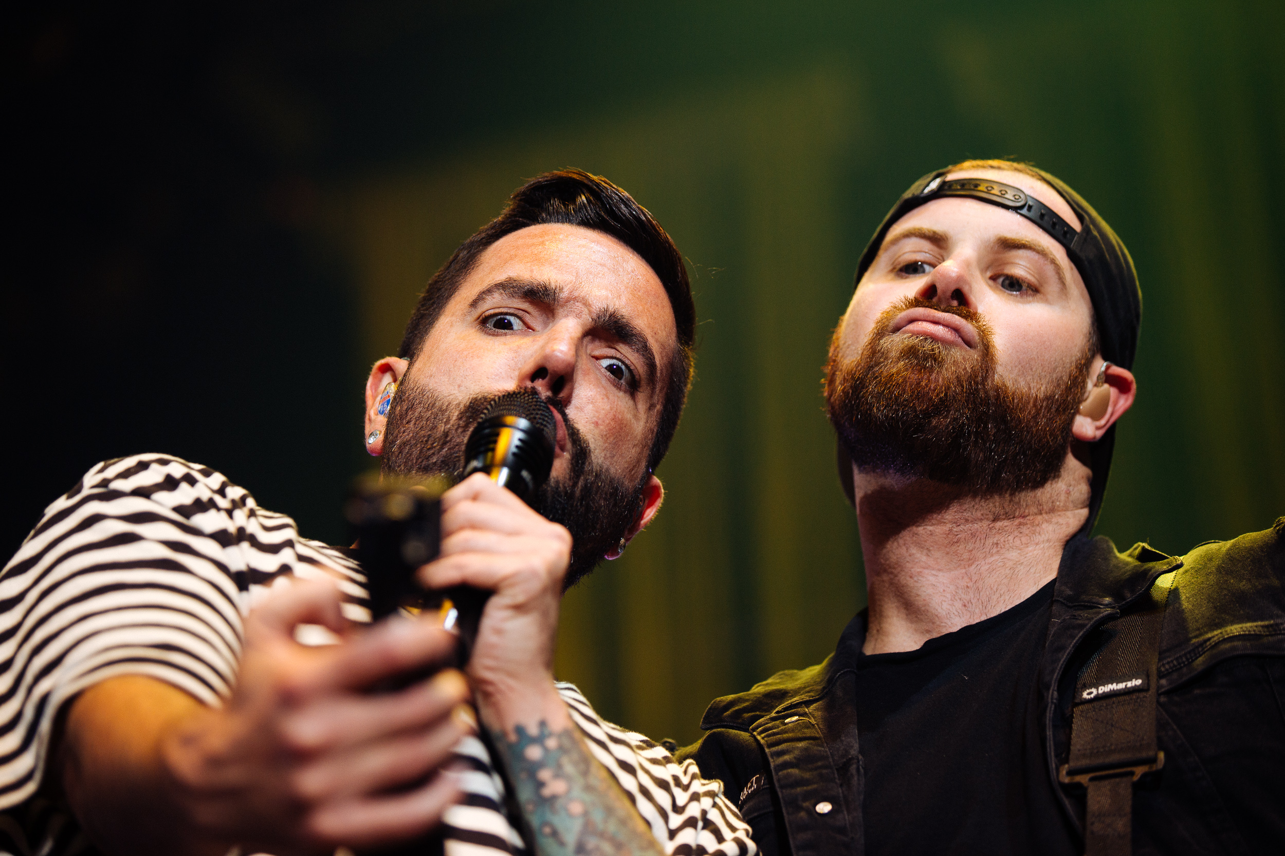 Jeremy McKinnon and Kevin Skaff of A Day to Remember by Adam Elmakias