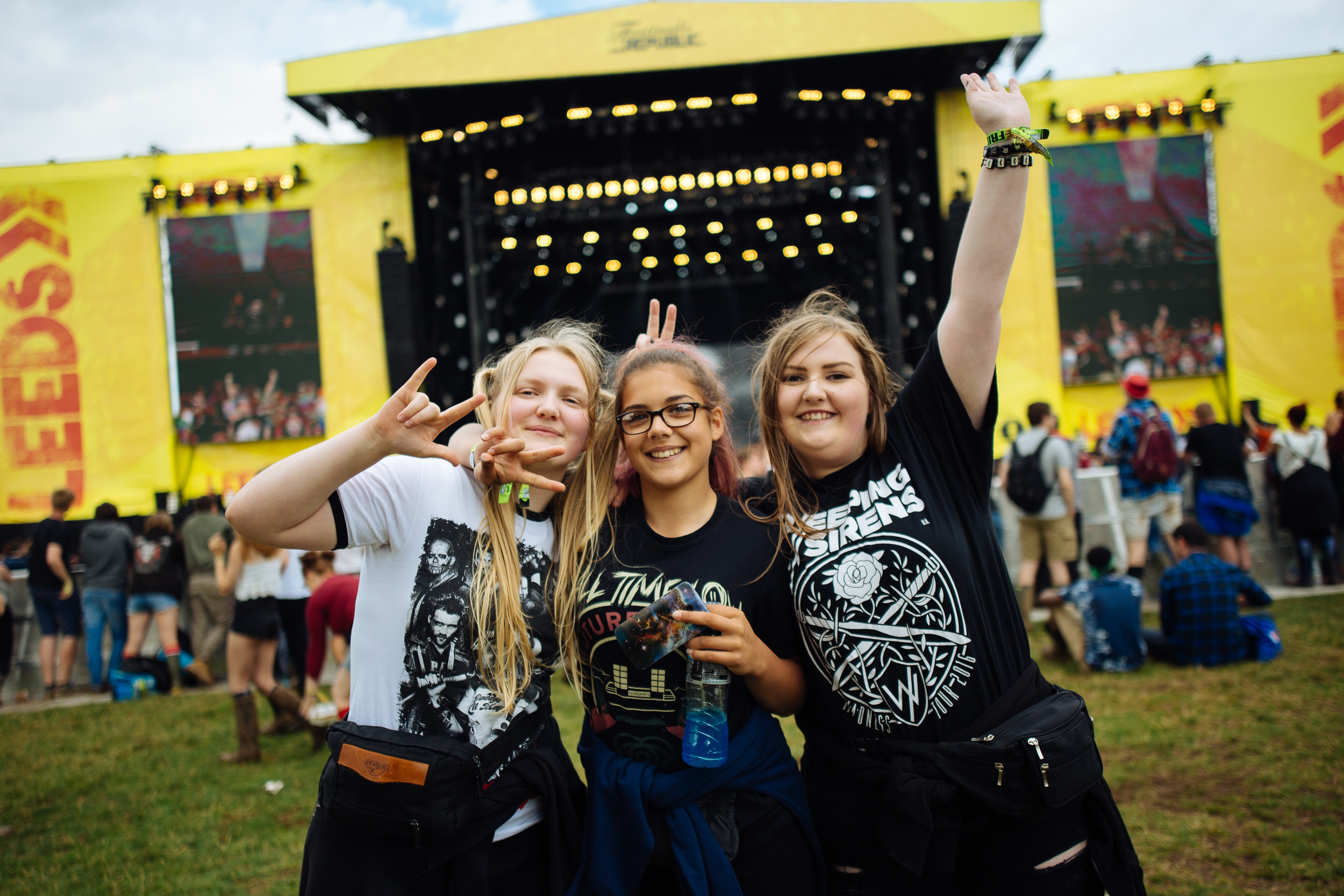Awesome people at Leeds Festival by Adam Elmakias