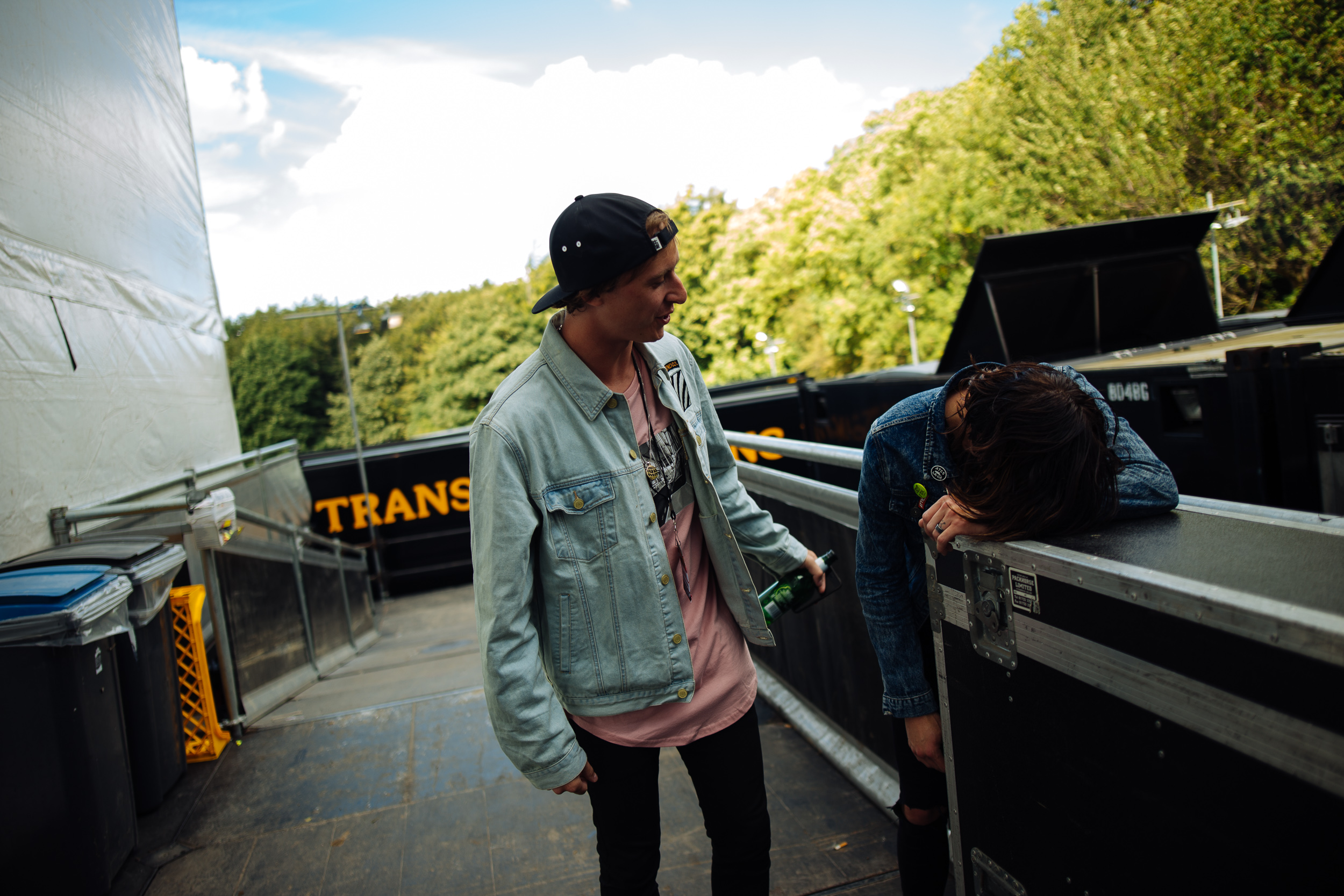 Derek of State Champs and Kellin of Sleeping With Sirens at Leeds Festival by Adam Elmakias