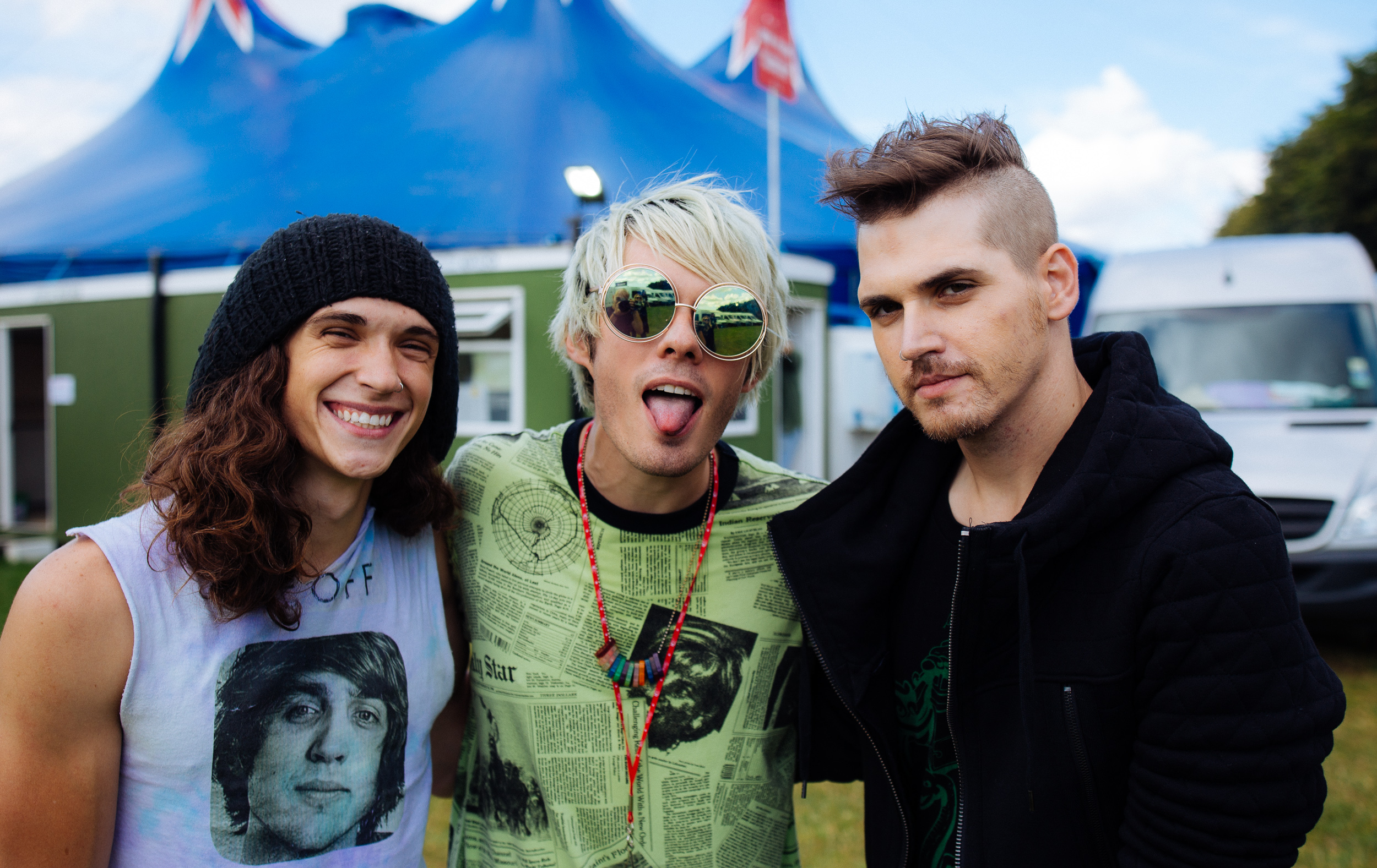 Waterparks  x Mikey Way at Leeds Festival by Adam Elmakias