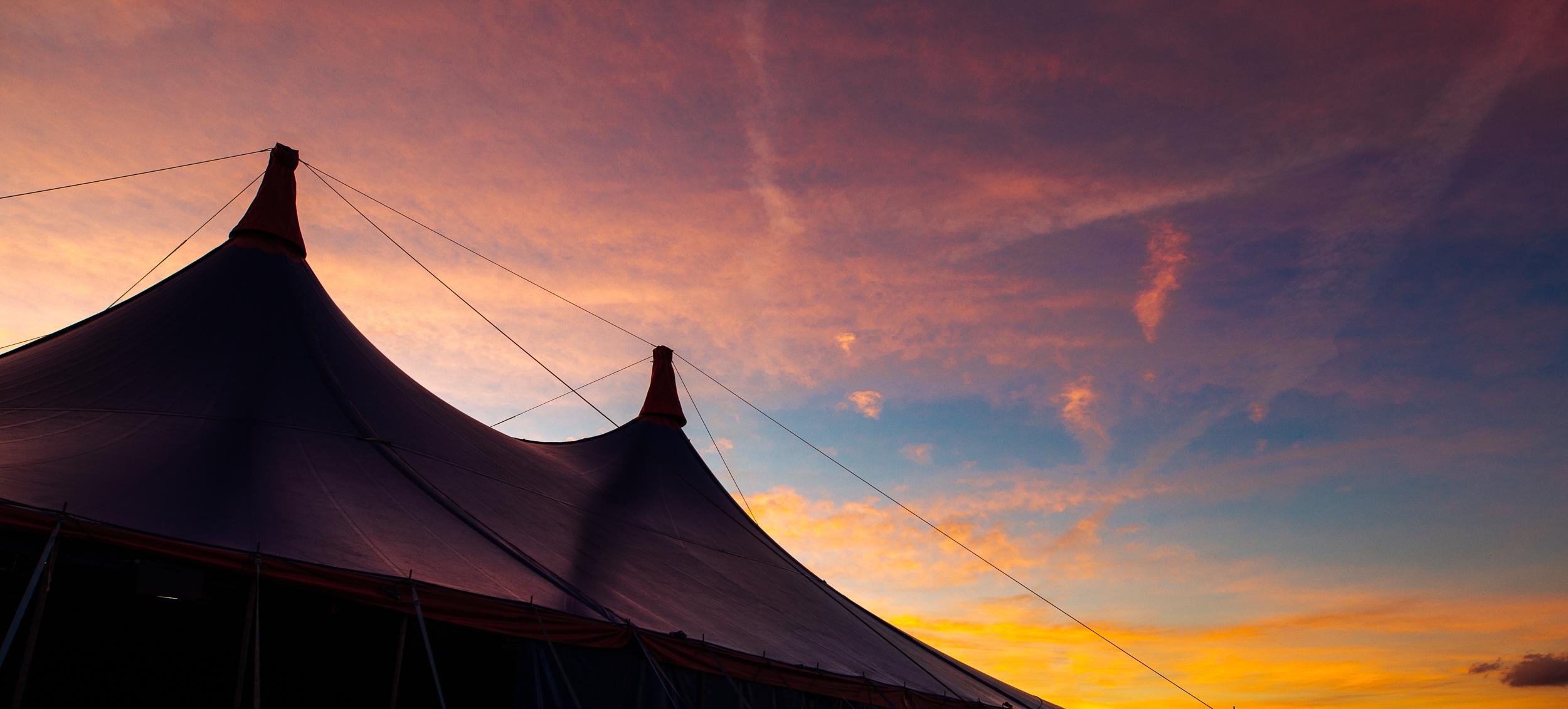 Sunset at Leeds Festival