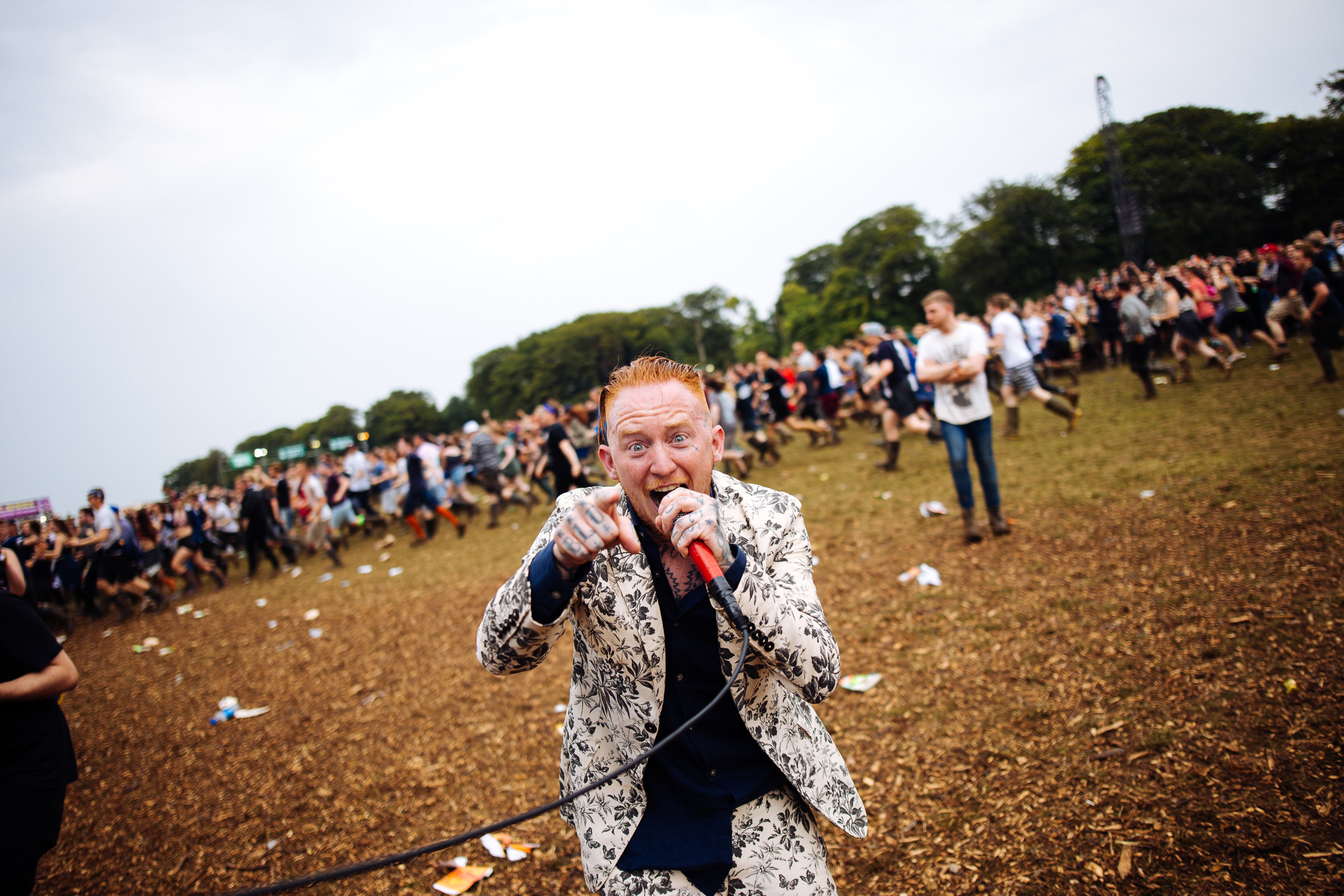 Frank Carter at Leeds Festival by Adam Elmakias