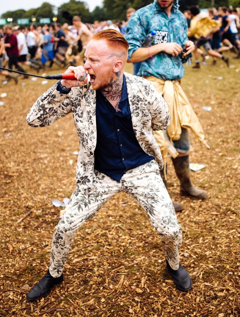 Frank Carter at Leeds Festival by Adam Elmakias