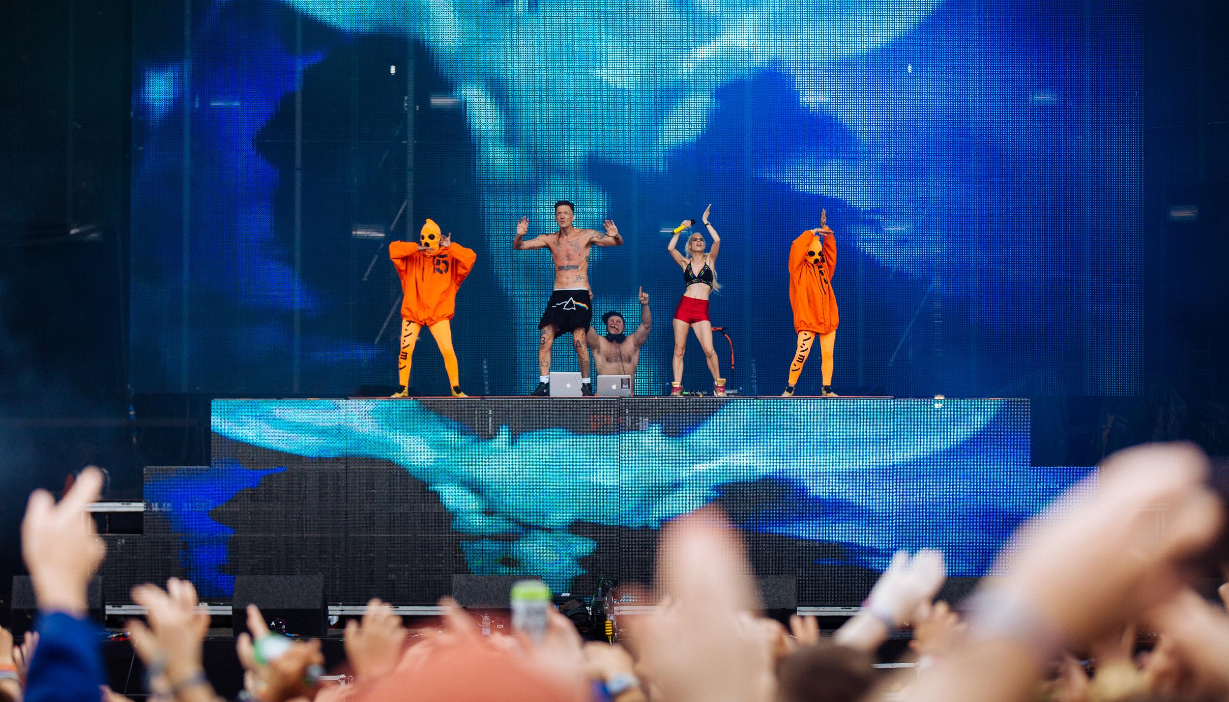 Die Antwoord at Leeds Festival by Adam Elmakias