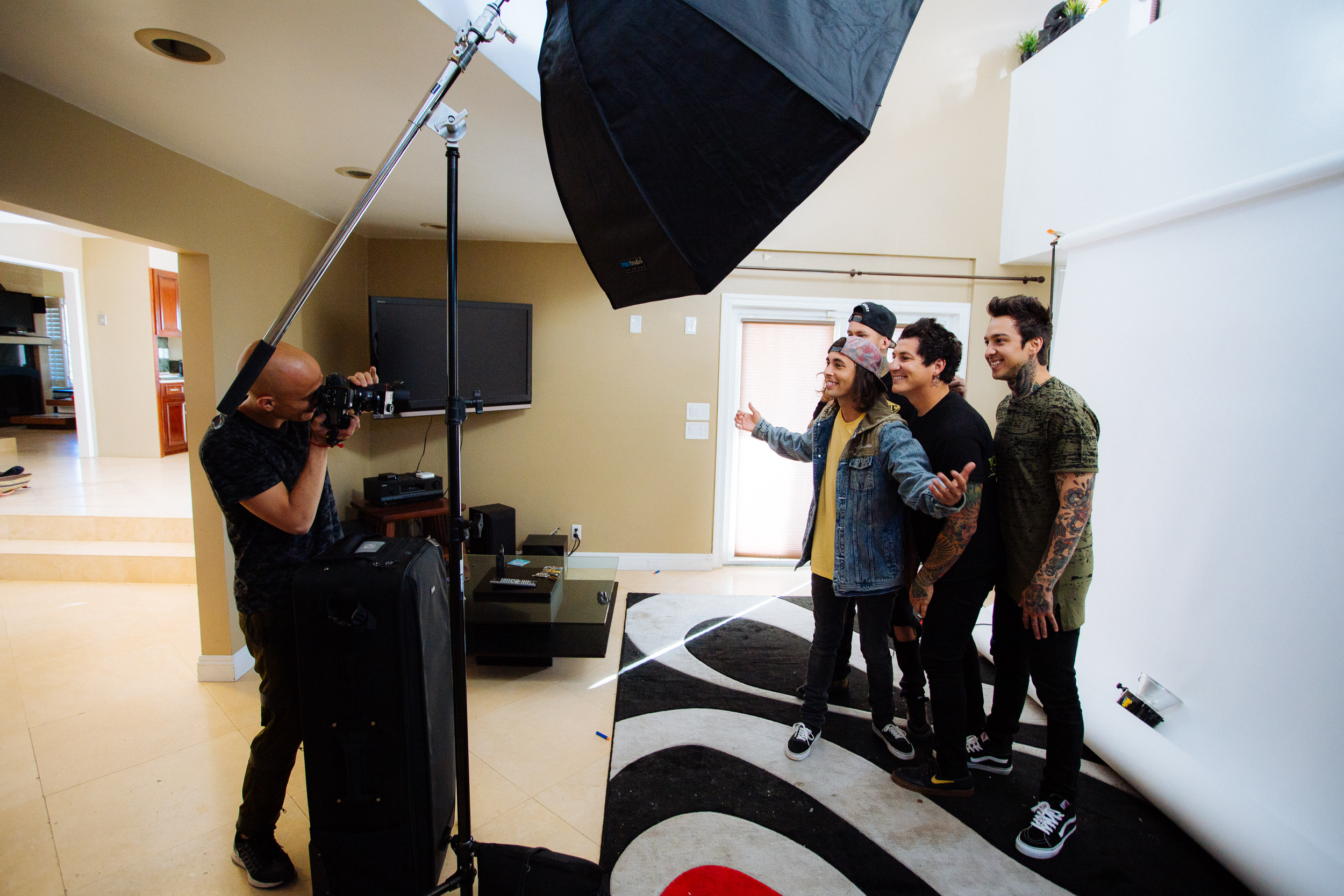 Adam Elmakias photographs Pierce the Veil for Rock Sound Magazine