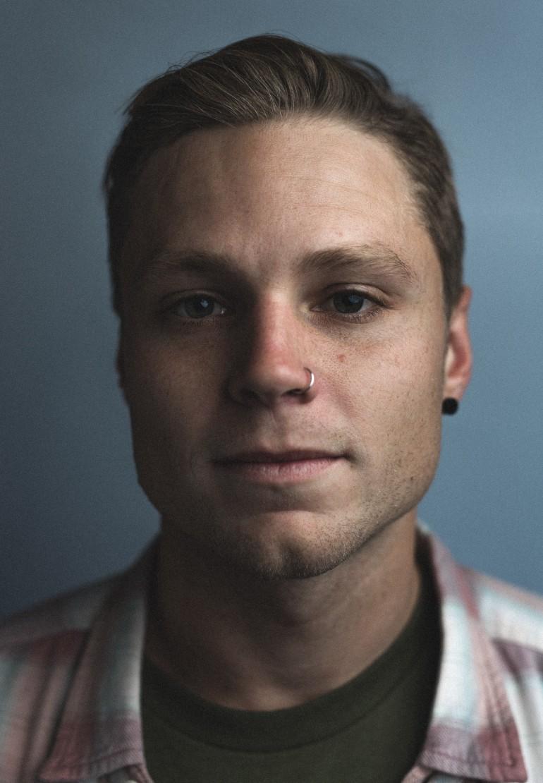 Backstage Portrait - Matt Best of Tonight Alive by Adam Elmakias