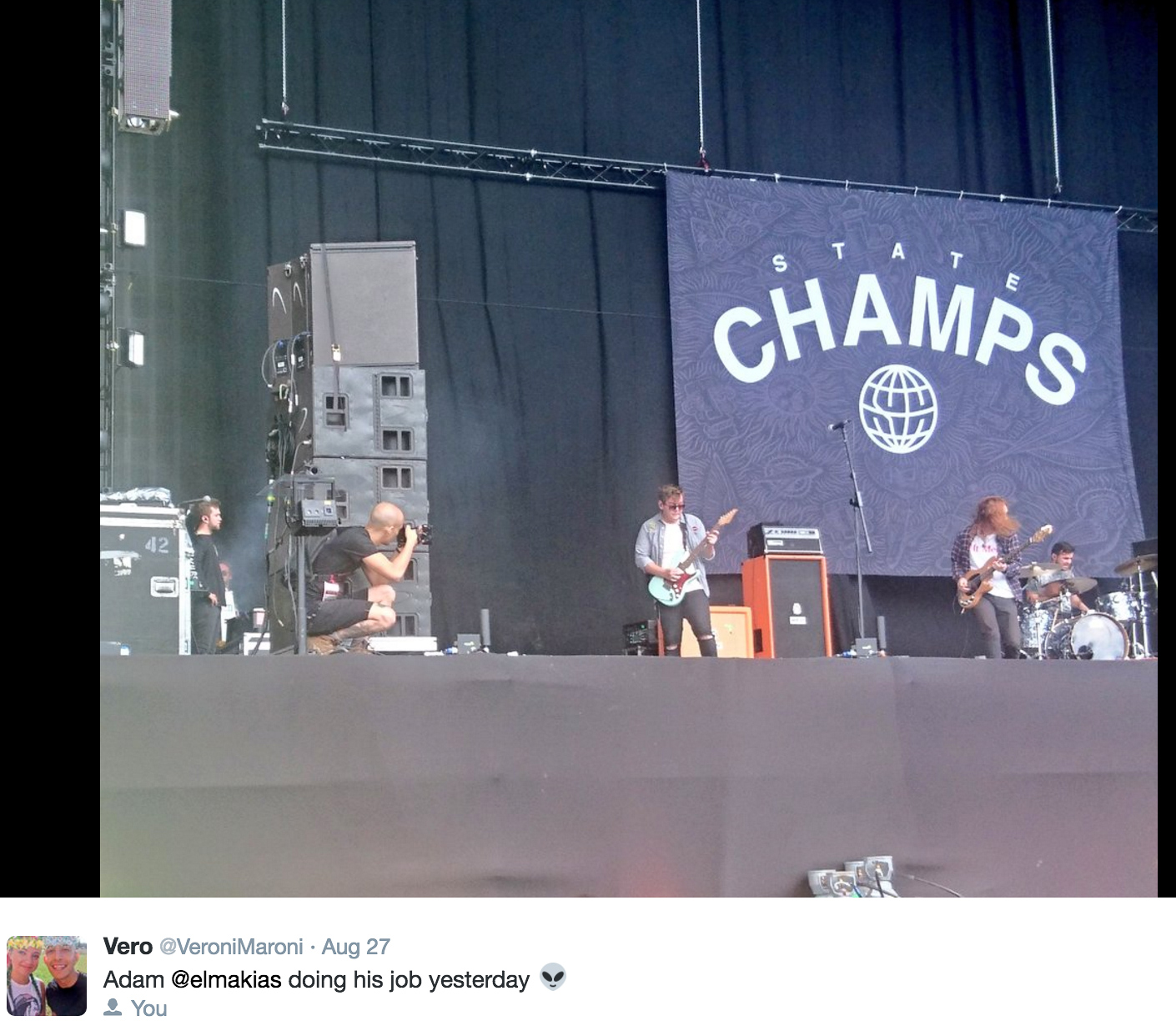 This is me creeping on State Champs