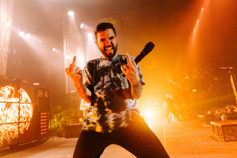 Jeremy McKinnon of A Day to Remember by Adam Elmakias