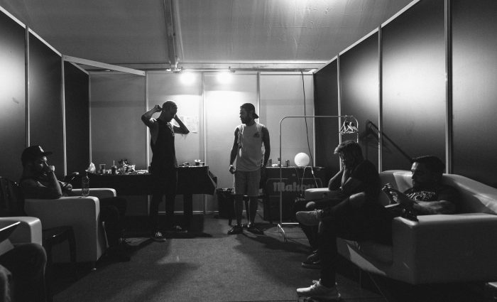 Dressing room before the show - you know, all 5
