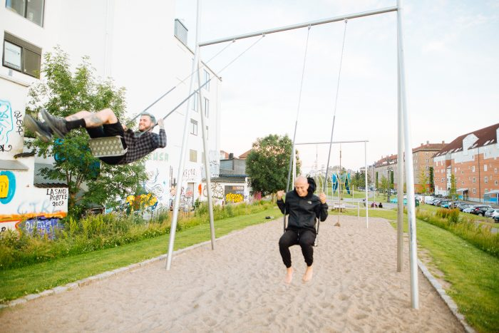 Swings at a park, classically OOF