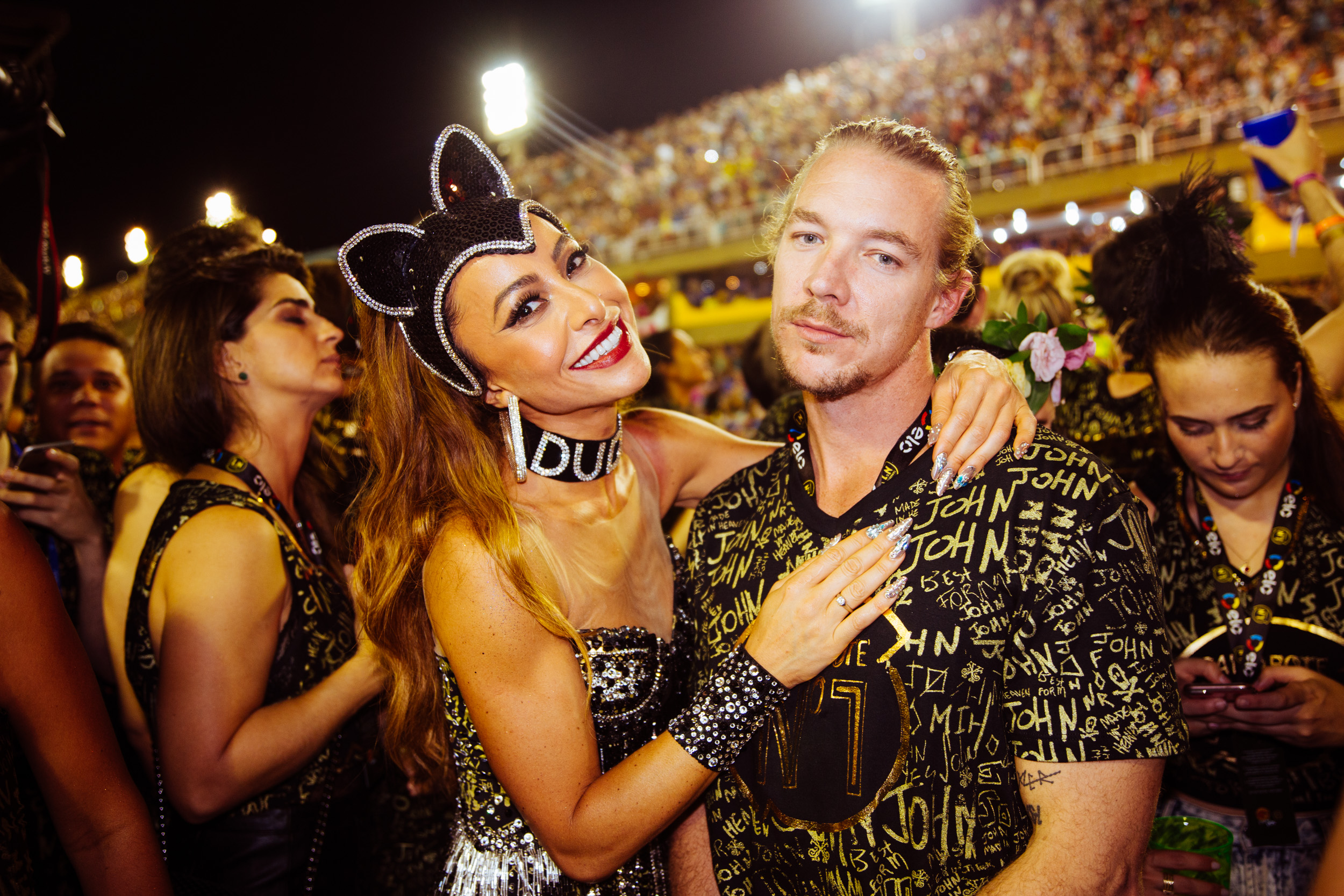 Diplo with an actress