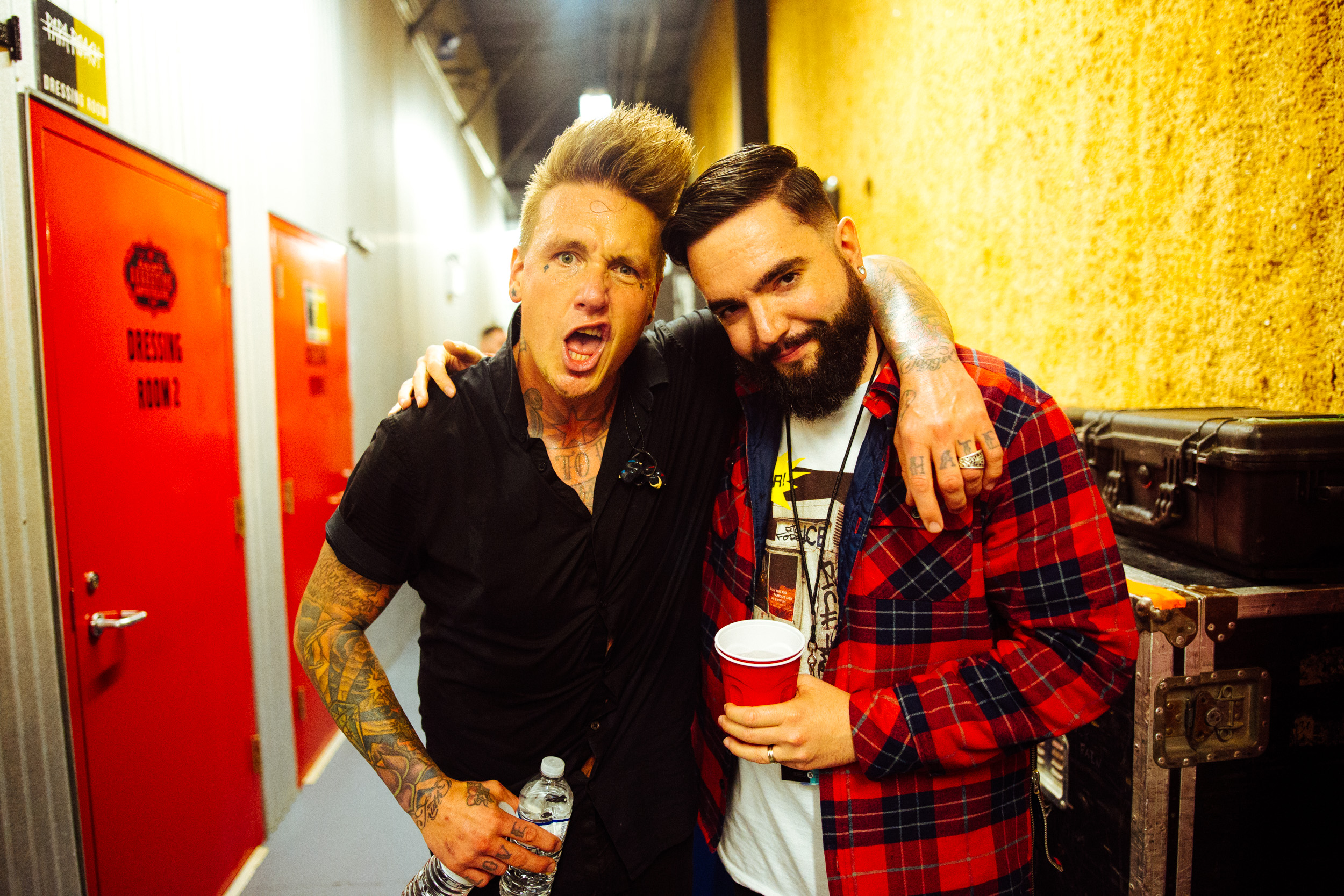 Jacoby of Papa Roach and Jeremy of A Day To Remember