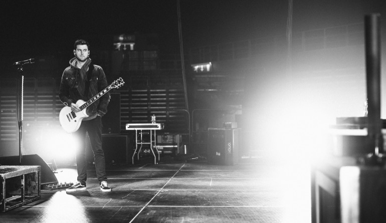 Soundcheck before a show of the A Day To Remember UK Arena Tour