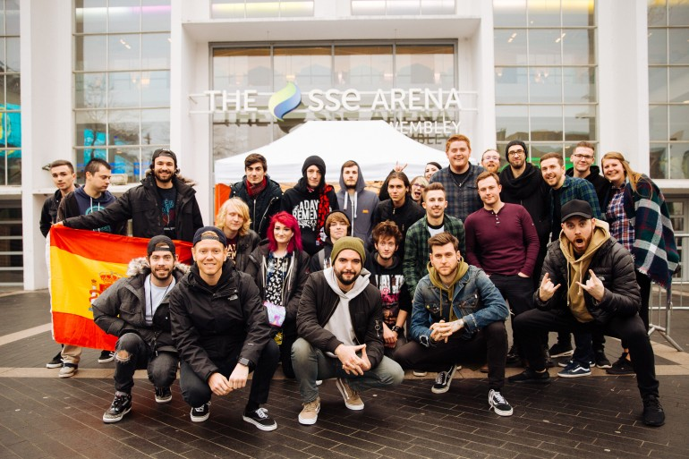 Front line fans during the A Day To Remember UK Arena Tour