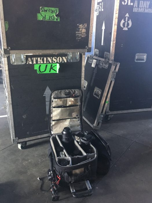 Tour Photographer in Europe: My gear on stage, grab and go setup thanks to Think Tank