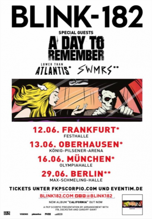 Tour Photographer in Europe with Blink-182, A Day To Remember, and SWMRS