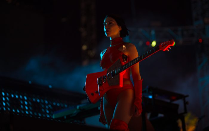 St. Vincent at Coachella 2018 - photographed with a Sony a7R III - Sigma 85mm f/1.4 Art - Sigma MC‑11 Mount Converter