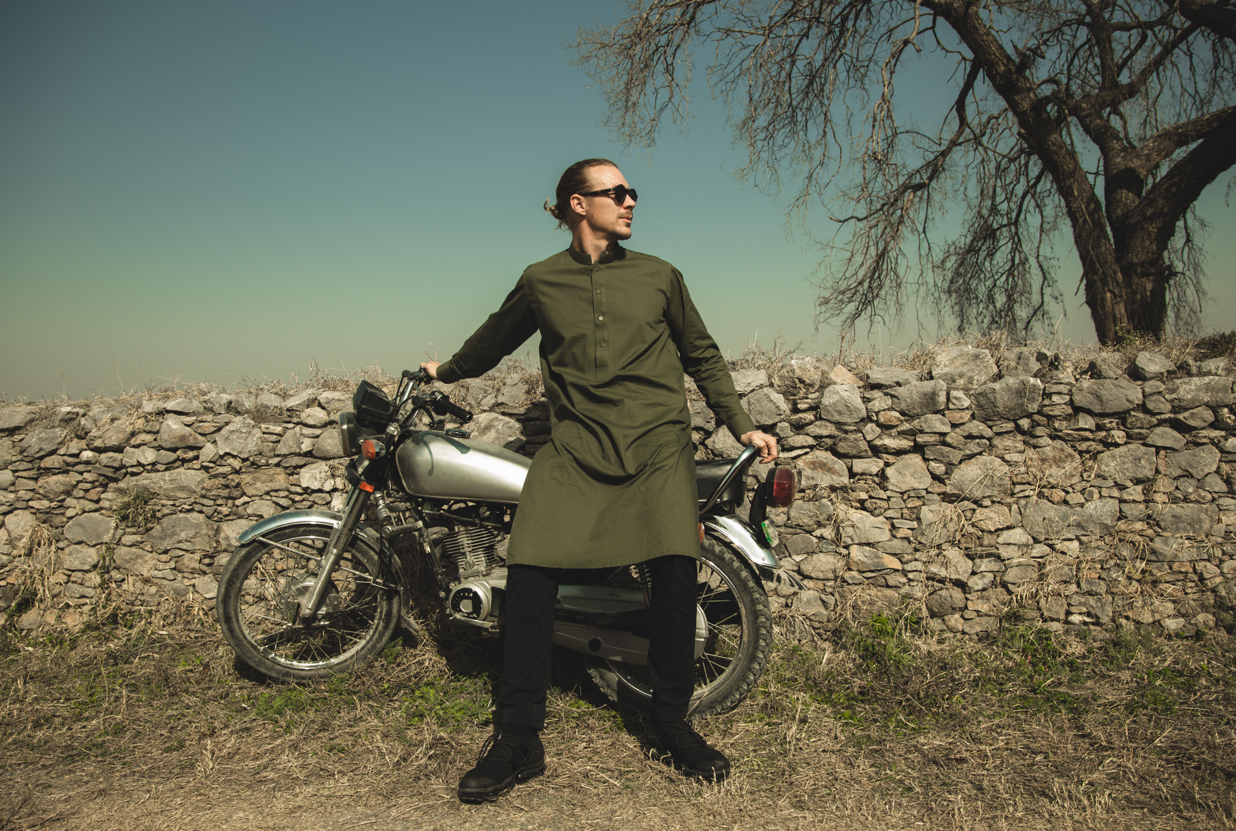 Diplo with motorbike