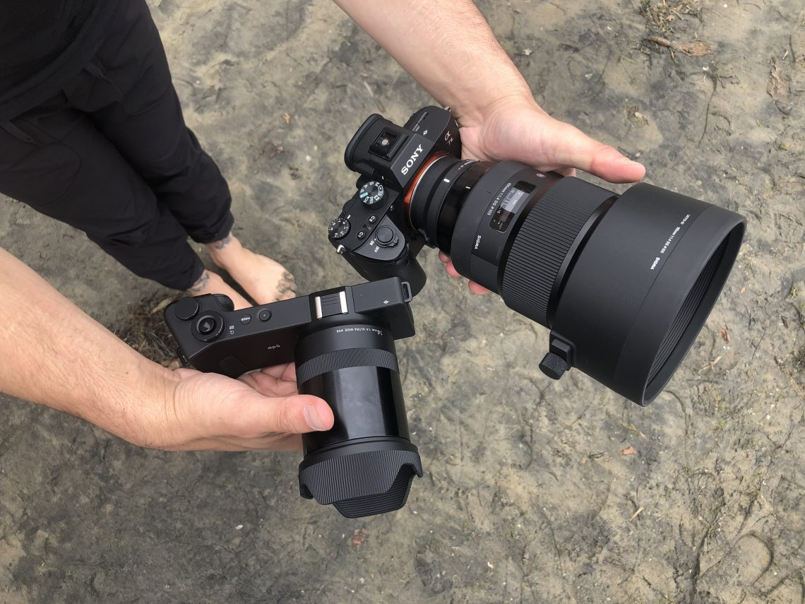 My Camera Setup for the day - Sigma dp0 for wide shots and the Sigma 85mm f/1.4 for my close ups