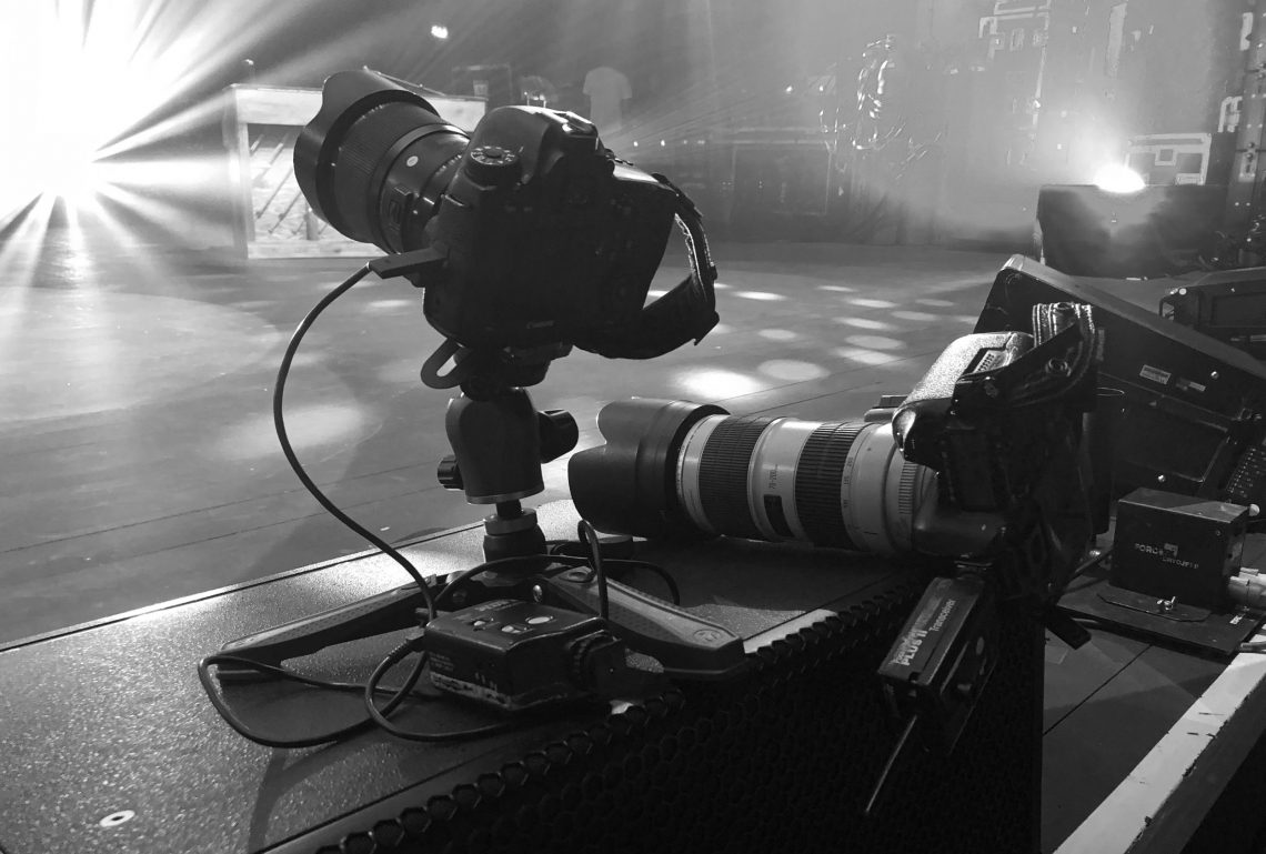 My gear for Twenty One Pilots, one remote camera and one handheld