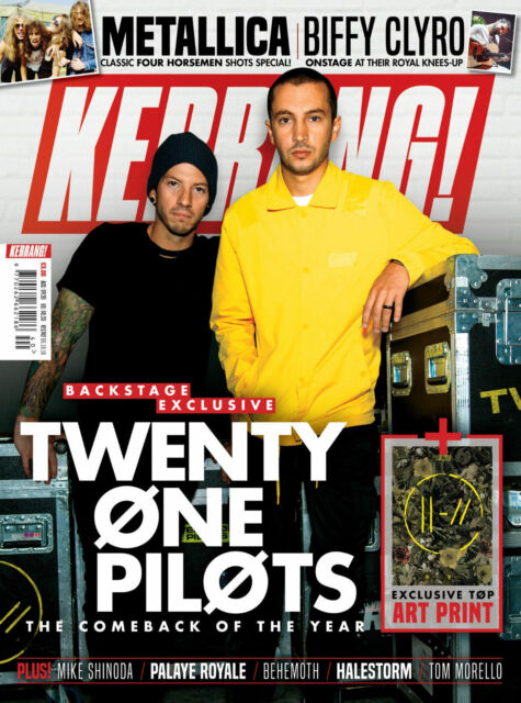 Josh and Tyler on the cover or kerrang magazine by adam elmakias